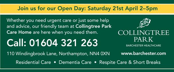 Collingtree Park Care Home: Open Day, Saturday 21st April