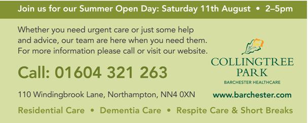 Collingtree Park Care Home: Open Day, Saturday 11th August